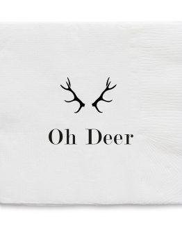 Serviett Oh Deer, hvit