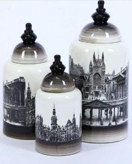 City Glam Urne/vase, sett 3stk