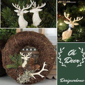 Dekorativt hjortehode