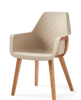 Amsterdam City Dining Armchair Taupe