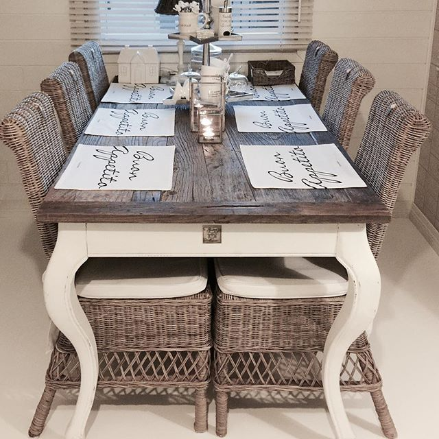 beautiful cool driftwood dining table with riviera maison. Black Bedroom Furniture Sets. Home Design Ideas