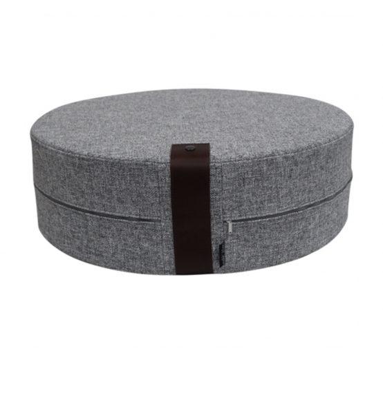 Puff grå twist 62×20