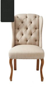 Riviera Maison stol, Keith II Dining Wing Chair lin Flax 3