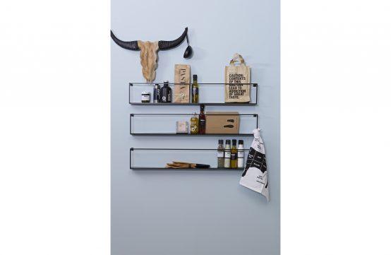 Meert, stålhylle, vegghylle 100cm, De Ekhoorn