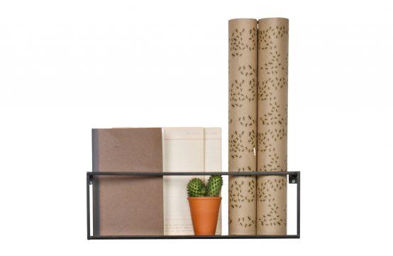Meert vegghylle, stålhylle, Wood, De Ekhoorn