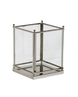 Hurricane lantern Stainless Steel, lyslykt, hurricane, lyskykt i glass og rustfritt stål, herregård
