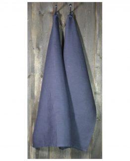 kjøkkenhåndkle,midnattgrå, herregård, 100% stenvasket lin