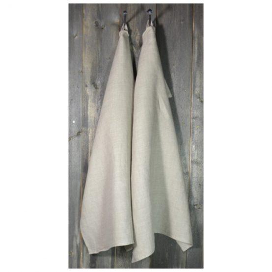 kjøkkenhåndkle, 100% stenvasket lin, natur, herregård