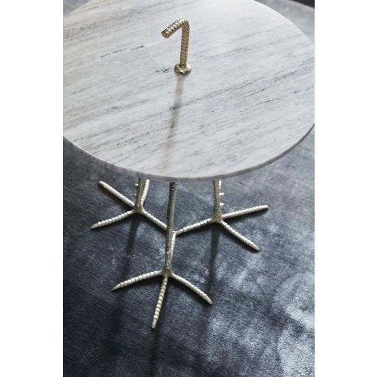 Bord Mastella, marmortopp og strutseføtter, ByOn, kaffebord, sofabord, unikt salongbord