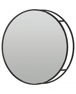 olivia, rundt sort stål speil, deeekhoorn
