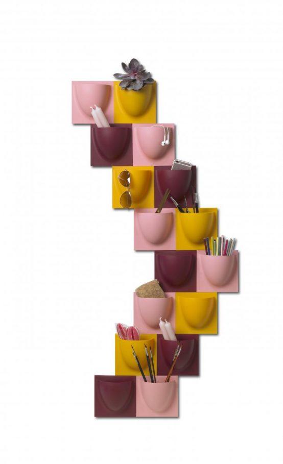 vertiplants, liten, rosa, bordeauxviolet