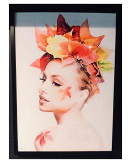 Flowergirl, poster med sort treramme