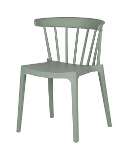Bliss stol, spisestol, spindelstol, stablestol, kjøkkenstol, plaststol, utestol, retro stol, matt hvit stol, kontorstol, WOOOD, De Ekhoorn