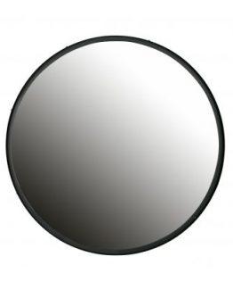 lauren speil, rundt speil med sort stålramme, Bepure