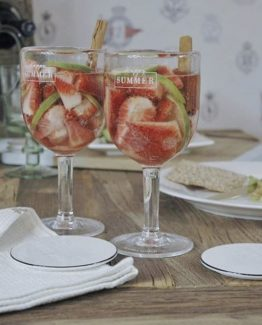 Happy summer wine glass, Riviera Maison