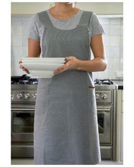 Casual classic apron, grey, Riviera Masion