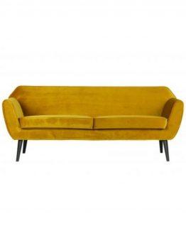 Rocco sofa, Oker velour, De EEkhoorn, Woood