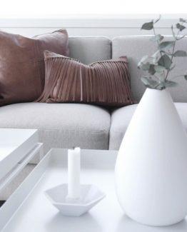 Adele Vase i keramikk, hvit matt. Coming Home