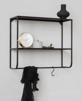 svart hylle, stålhylle, House Doctor, dansk design nordisk design, minimalistisk hylle, minimalistisk stil, nordisk stil, industriell stil, industriell hylle