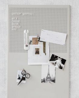 oppslagstavle, magnet tavle, house doctor, monograph, stål oppslagstavle, nordisk, minimalistisk, tavle til kontor, kontortavle