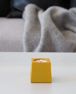Cube T-lysholder oker