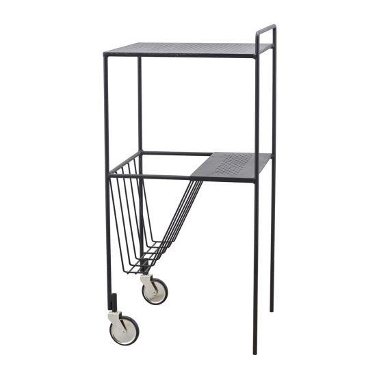 House Doctor, dansk design, nordisk design, minimalistisk stil, trolley, rullebord, småbord, svart bord