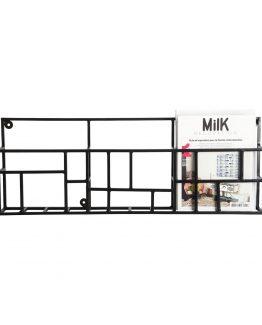 svart hylle, stålhylle, House Doctor, dansk design nordisk design, minimalistisk hylle, minimalistisk stil, nordisk stil, industriell stil, industriell hylle, magazinholder, hylle for blader