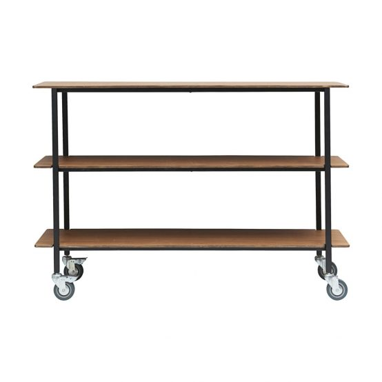 House Doctor, dansk design, nordisk design, rullebord, avlastningsbord, minimalisisk rullebord, trolley, bord med hjul, svart bord