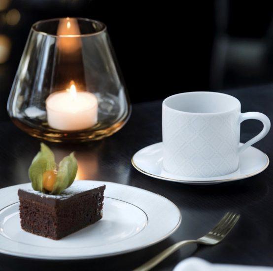 Cape kaffekopp, asjett, Rocks lykt amber, Halvor Bakke