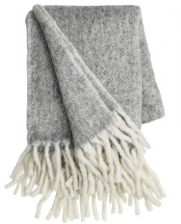 ull teppe, ull pledd, sofa pledd mathea melange, throw, cozy living, cozy living copenhagen, mykt ull pledd, høst pledd, grått teppe