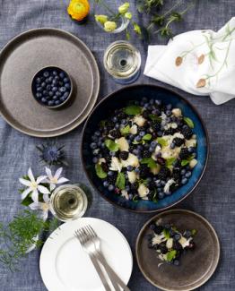 BITZ Salatbolle svart/mørkblå – 30 cm