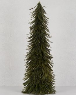 grønt fjærtre juletre fjær julepynt alot
