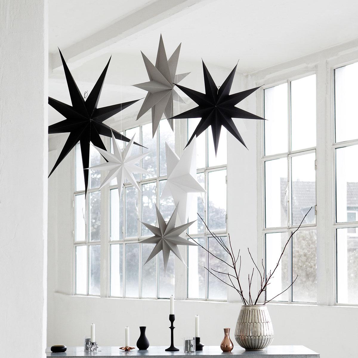 Fantastisk Adventstjerne 9 punkt, sort - 60 cm - designerhome.no DM-06