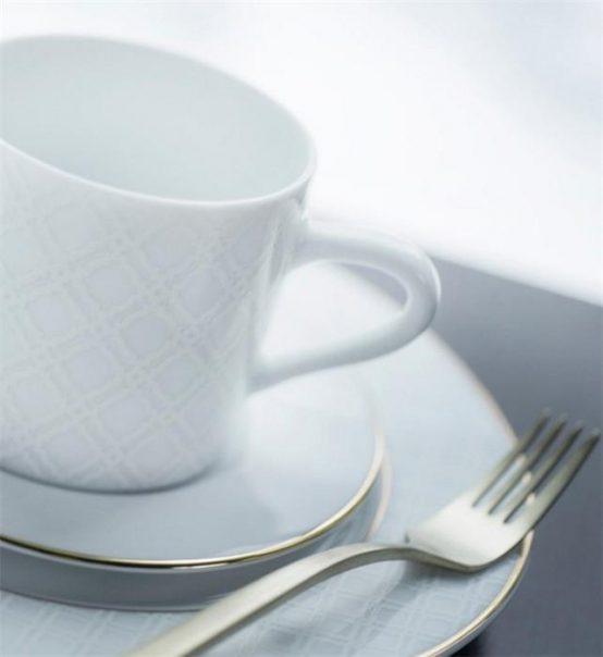 Cape kaffekopp, asjett, Halvor Bakke servise, kakegaffel pure champagne