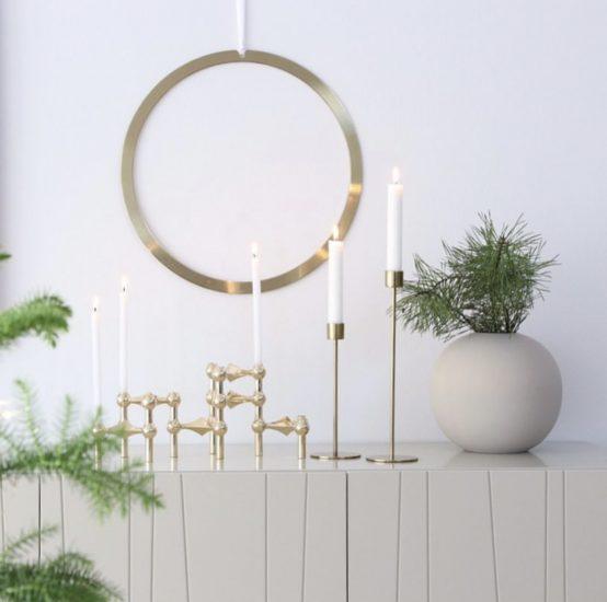 wreath brass, cooee design