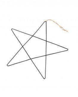 stjerne brass sort juletrepynt