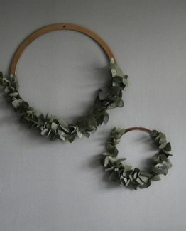 wreath brass, stål ring, cooee design
