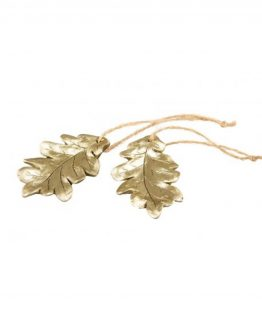 løvblad gull juletrepynt