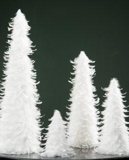 fjærtre hvit juletre