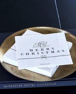 paper napkin merry christmas, riviera maison, jul