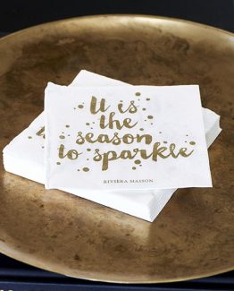 paper napkin season to sparkle, juleserviett , riviera maison, jul