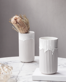 Lyngby vase med løpende glasur