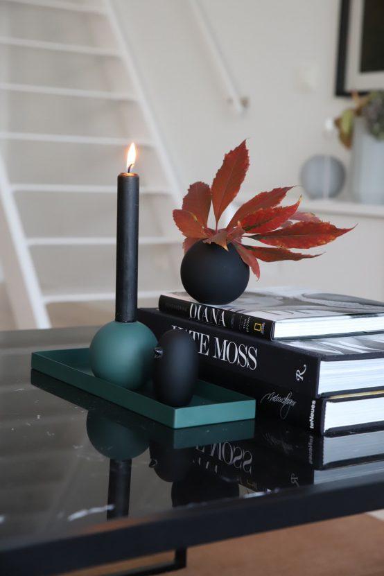 keramikk fugl sort, bird black, cooee design