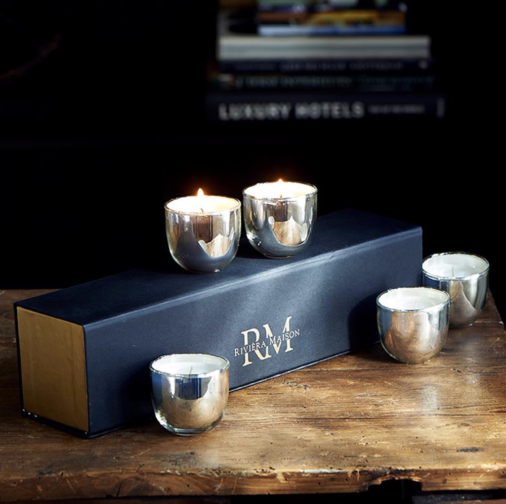 RM luxury scented candles 5 pcs, riviera maison jul