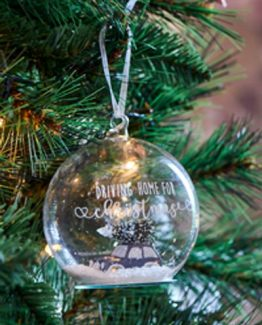 merry christmas car ornament riviera maison julekule, jul