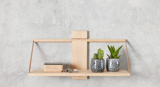 wood wall shelf, Andersen furniture