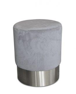 pretty puff velour lys grå velvet