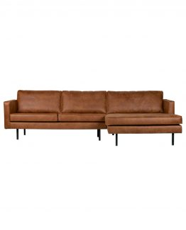 rodeo sofa med sjeselong cognac