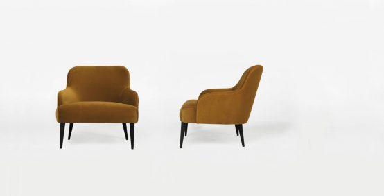 Vika lounge stol ygg og lyng