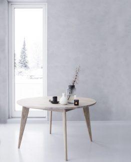 viken, spisebord, nordisk stil, norsk design, rundt spisebord, ygg&lyng